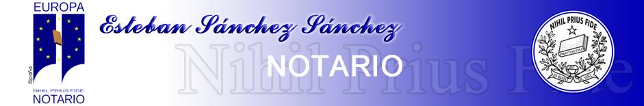 Esteban Sanchez Sanchez. Notario. Public notary. Zaragoza. España